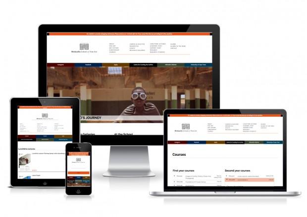 Michaelis website responsive showcase